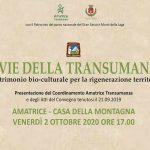 Presentazione Coordinamento le vie della Transumanza